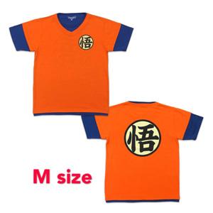 Dragon Ball ZT-shirt 「悟」 M orange