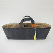 Cohana Canvas Tool Bag, Charcoal/Jonquil