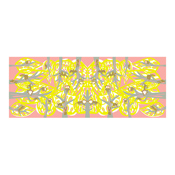 Tenugui, Forest Animals, Yellow