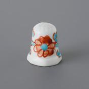 Kutani Thimble 086 Reiko Tsurumaki Piece, Flower