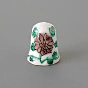 Kutani Thimble 089 Reiko Tsurumaki Piece, Flower