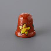 Kutani Thimble 094 Akemi Katsube Piece, Mokubei Style Starfish