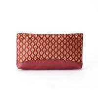 Clutch Bag, Hishikobanakinran, Deep Red
