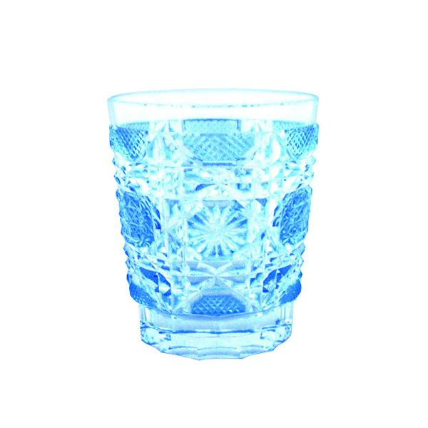 Satsuma Kiriko Old Fashioned Glass Satsuma Octagonal Nanako Blue Jcrafts Com