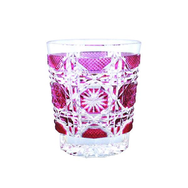 Satsuma Kiriko Old Fashioned Glass Satsuma Octagonal Nanako Red Jcrafts Com
