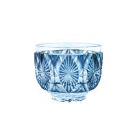 Satsuma Kiriko, Created Satsuma Bowl, Indigo Chrysanthemum