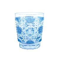 Satsuma Kiriko, Old-Fashioned Glass Satsuma Octagonal Nanako, Blue
