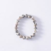 Japanese Natural Stone Mannari Ishi Bracelet, Malet, 10mm Beads