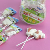 Milk Candy w/Stick, Strawberry