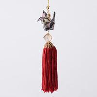 Paper Crane Tassel Washi Ornament, Black