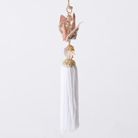 Paper Crane Tassel Washi Ornament, Pink