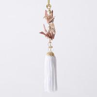 Paper Crane Tassel Washi Ornament (Crane Pair) Pink