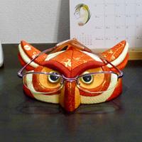Kimekomi Owl Glasses Stand (Red)