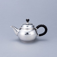 Pure Silver Teapot, Hammered Design, Polished Finish, 2.7-Sun
