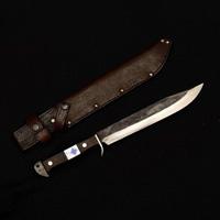 Kogetsu Saku, Black Blade Kennata Knife (w/Leather Case)