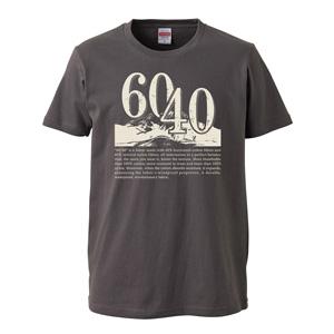 60/40 design print T-shirt unisex (cement)