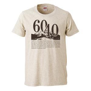 60/40 design print T-shirt unisex (oatmeal)