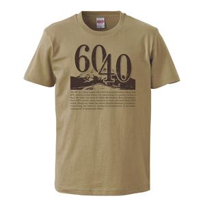 60/40 design print T-shirt unisex (sand khaki)