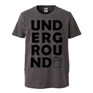 UNDERGROUND print T-shirt unisex (cement)