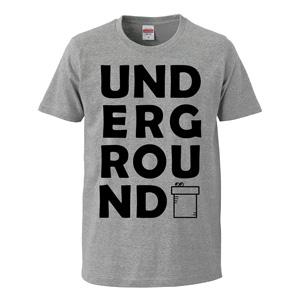 UNDERGROUND print T-shirt unisex (gray)