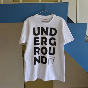UNDERGROUND print T-shirt unisex (white)