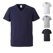 [United Athle] 4.7 Ounce Fine Jersey V-Neck T-Shirt