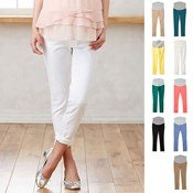 Angeliebe P. Pants, Stretch Color Chino Skinny Pants / Maternity