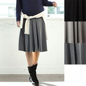 Angeliebe Prenatal/  Postpartum Fitted Flared Mid-Length Skirt / Maternity