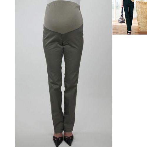5398045c79979 Angeliebe Stretch Linen Blend Twill Semi-Bootcut Maternity Pants / Maternity  | JSHOPPERS.com