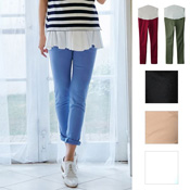 Angeliebe P. Pants, Stretchy Color Skinny Chino Pants / Maternity