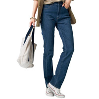 [Cecile] Selectable Fit Straight Jeans (Indigo) / Winter 2018 New Item, Ladies'