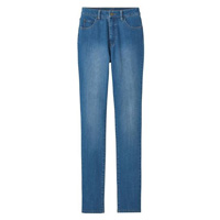 [Cecile] Selectable Fit Straight Jeans (Washed Blue) / Winter 2018 New Item, Ladies'