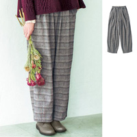 [Cecile] Tweed-Style Cotton-Blend Material Voluminous Wide Pants / Winter 2018 New Item, Ladies'