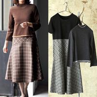 [Cecile] 2-Piece Set (Top & Dress) / Winter 2018 New Item, Ladies'