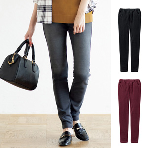[cecile] Lining Shaggy Knit Denim Slim Pants / New Arrival Spring Summer 2020, Ladies