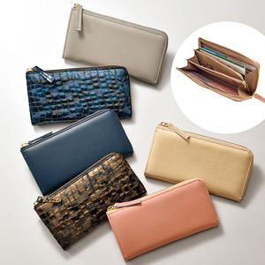 [cecile] L-shaped Wallet Made in Japan (wallet, genuine leather) / New Arrival Spring Summer 2020