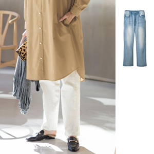 [cecile] Wide Straight Denim Pants / New Arrival Spring 2020, Ladies