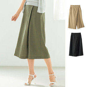 [cecile] Rayon Linen Wrap-style Gaucho Pants / New Arrival Summer 2020, Ladies