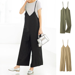 [cecile] Rayon Linen Salopette / New Arrival Summer 2020, Ladies