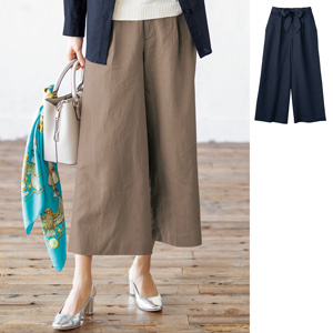 [cecile] Wide Pants with Ribbon Belt / New Arrival Summer 2020, Ladies