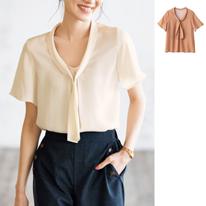 [cecile] Bow Tie Blouse / New Arrival Summer 2020, Ladies