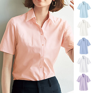 [cecile] Stable Form Bell Collar Shirt (Short Sleeve) / New Arrival Summer 2020, Ladies