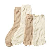 [Cecile] Layering Socks, Set Of 4 / 2018 Winter Lineup, Inner