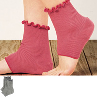 [Cecile] Smooth Heel Moisturizing Care Socks / 2018 Winter Lineup, Inner