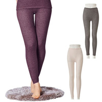 [Cecile] Warm  Fleece-Lined Stretchy Inner, Full-Length Inner Pants / Midwinter 2018 New Item