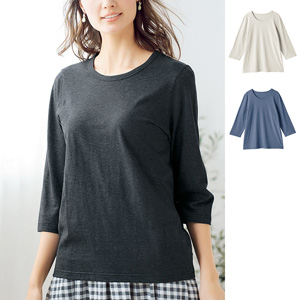 [cecile] SZT Shirt That Keeps Shape 3/4-Length Sleeves / New Arrival Spring 2020, Inner