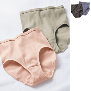 [cecile] 100% Cotton Rib Panties Gentle On Skin 2-Color Set / New Arrival Summer 2020, Inner
