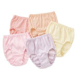 [cecile] 100% Cotton Panties, 5-Color Set (High Waist) / New Arrival Summer 2020, Inner