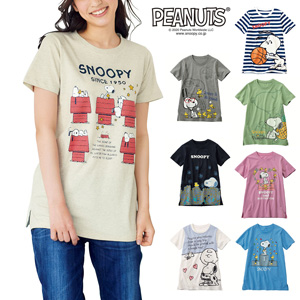 [cecile] Cotton 100% Short Sleeve T-Shirt (SNOOPY) / New Arrival Summer 2020, Inner