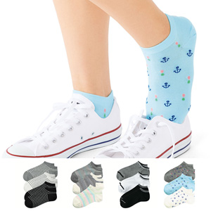 [cecile] Socks, 3 pairs different colors / New Arrival Summer 2020, Inner
